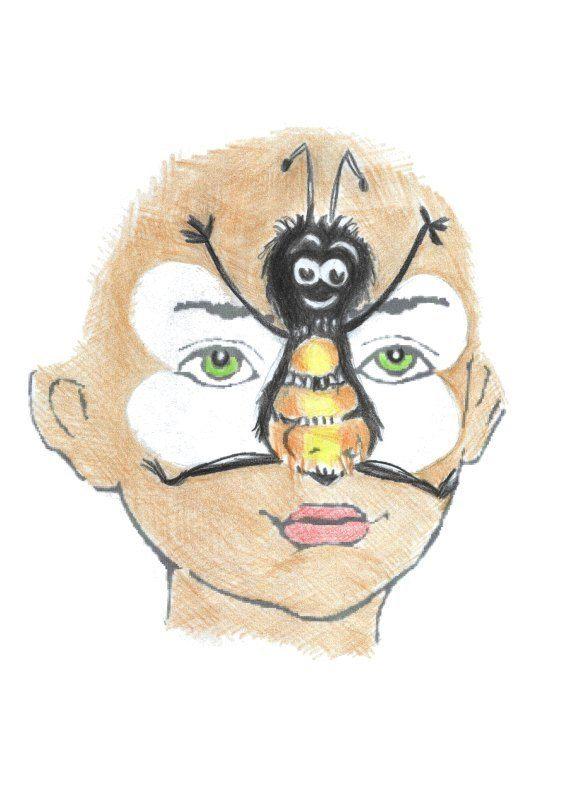 Bij: Make Up, Bees, Emilia, Carnival, Fun, Blije Bij