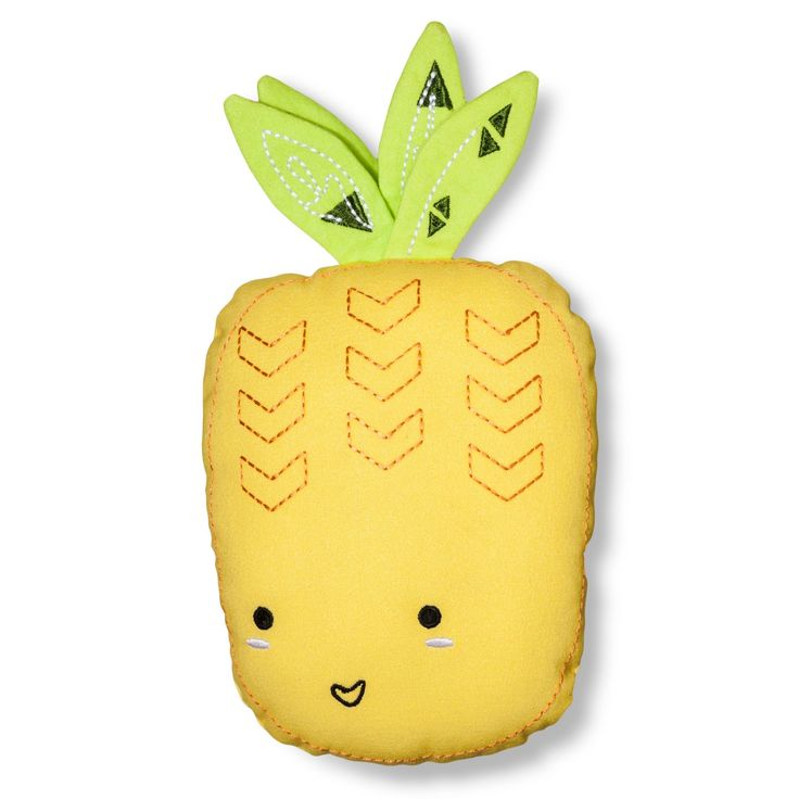 Your child will have a friend to come home to every day with the Mini Pineapple Pillow from Pillowfort. This kids' pineapple pillow has a friendly face and green leaves poking up on top of the yellow pineapple body. Perfect for a girl's or boy's room, this fun-loving fruit will give as much love as she gets.