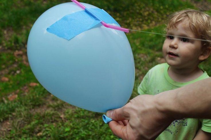 Outdoor Experiment für Kinder mit Luftballon