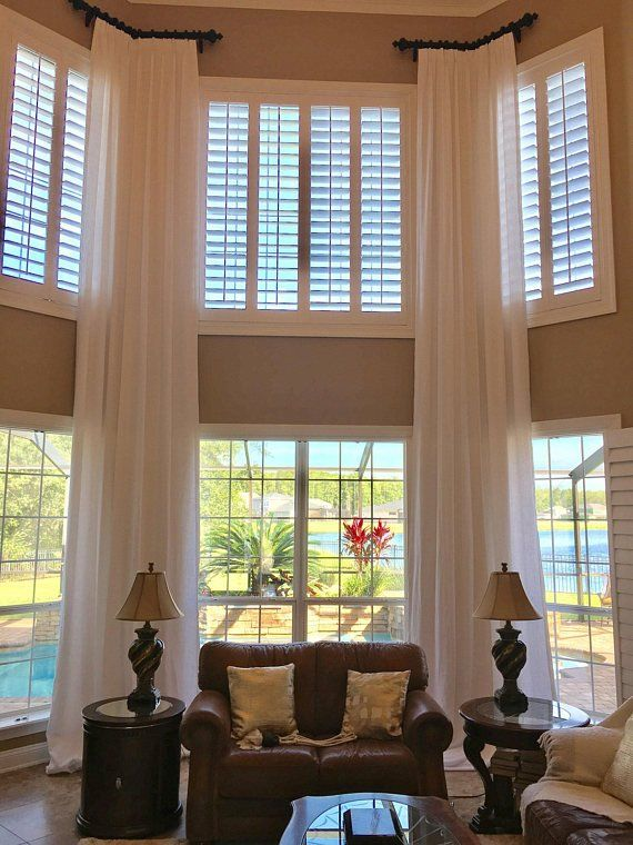 Solid Color Extra Long Curtain Panels With Pleats Unlined Semi