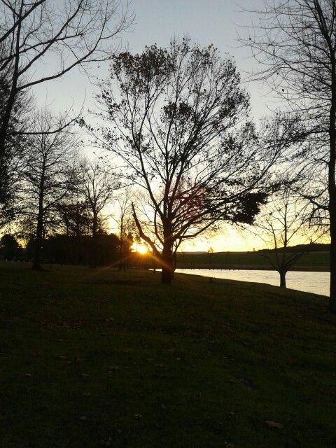 Sunrise on the dam