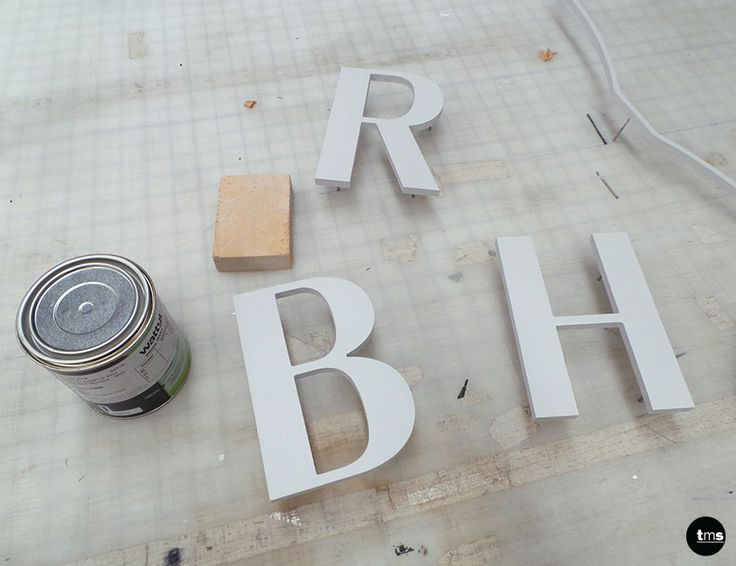 Wattyl Paint, Sanding Block, 3D Logo letters RHB for Roberta Hair and Beauty #salon #signage #retail #hairdressing #3Dlogo