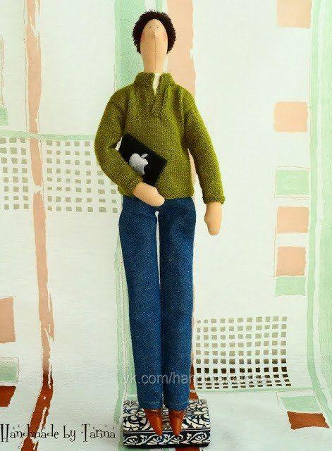кукла, мужчина, тильда, мастер класс, выкройка