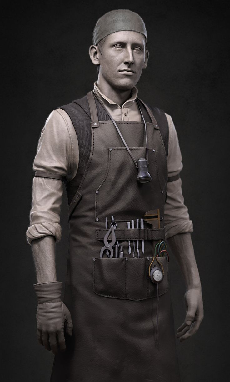 Tesla Lab Costume, Eiad Dahnim on ArtStation at https://www.artstation.com/artwork/tesla-lab-costume