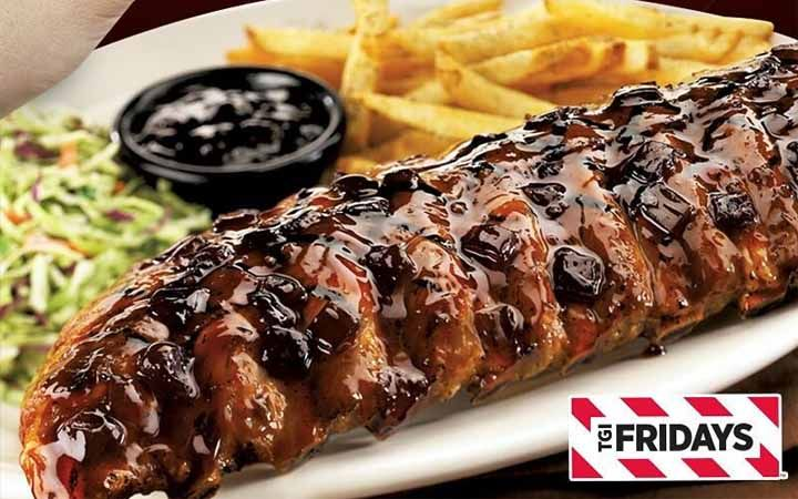 Delivery Exclusive From Tgifridays Pork Ribs Food Exclusive