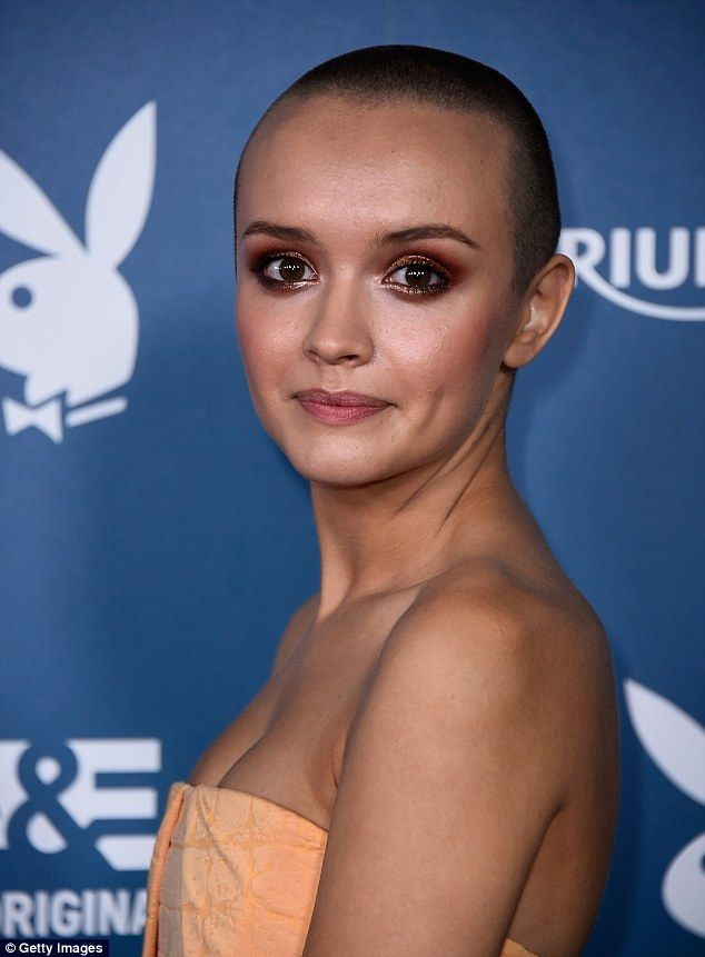 New 'do: The British star only shaved her head on Thursday - for her role in film Me & Earl & The Dying Girl - but was already rocking the daring new look