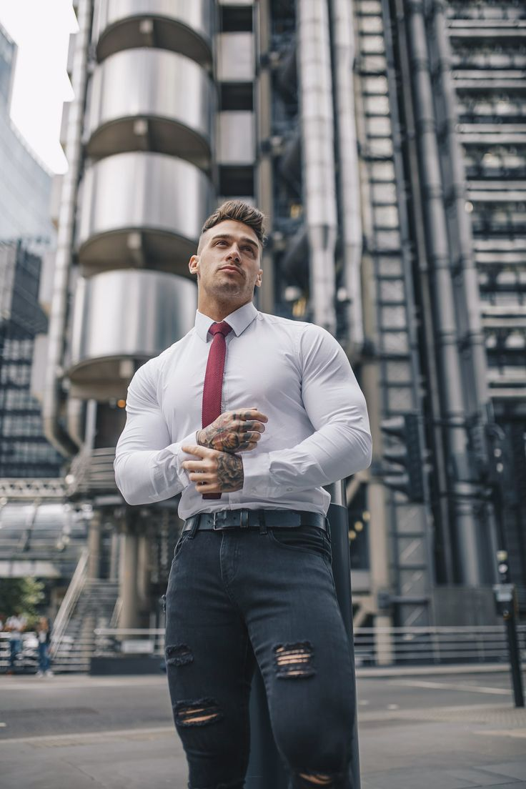 White Tapered Fit Shirt In 2019 Modern Mens Fashion