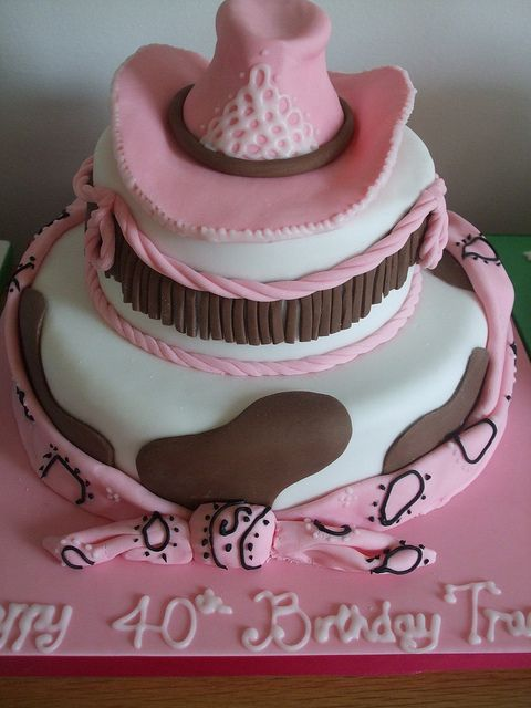 Cowgirl cake by trulycrumbtious, via Flickr