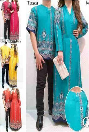 Couple Olla ( Maxi Dress + Kemeja Oblong ) Bahan Rayon     Fit to L     Harga : Rp. 144.500,-/pasang     Kode Produk / Product Code : CL2302