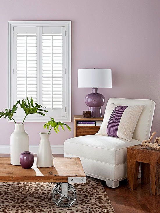124 best images about purple interiors on pinterest deep for Mauve kitchen walls
