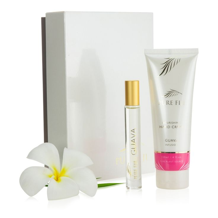 Pure Fiji Mini Luxury Two Pack | This gorgeous gift pack is perfect for every handbag or travelling. Contains a full size Hand Creme and an Exotic Oil Rollerball