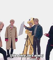 Like one of Jin's adorable pet sugar gliders lol