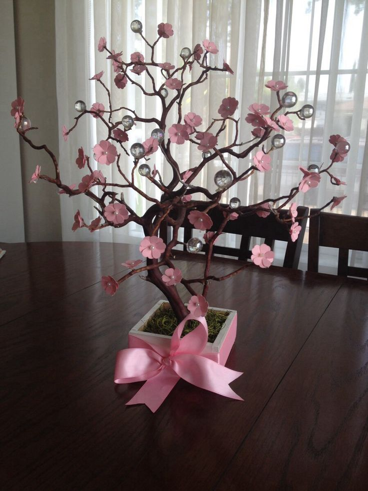 Cherry blossom centerpieces For baby shower, quinceañera, wedding, or any party decor from  Divine Crafted