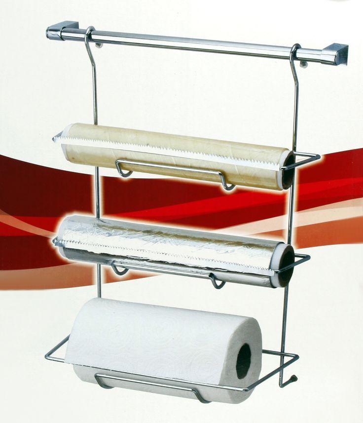 Fidex Home Metal Askılı 3lü Folyoluk ve Kağıt Havluluk