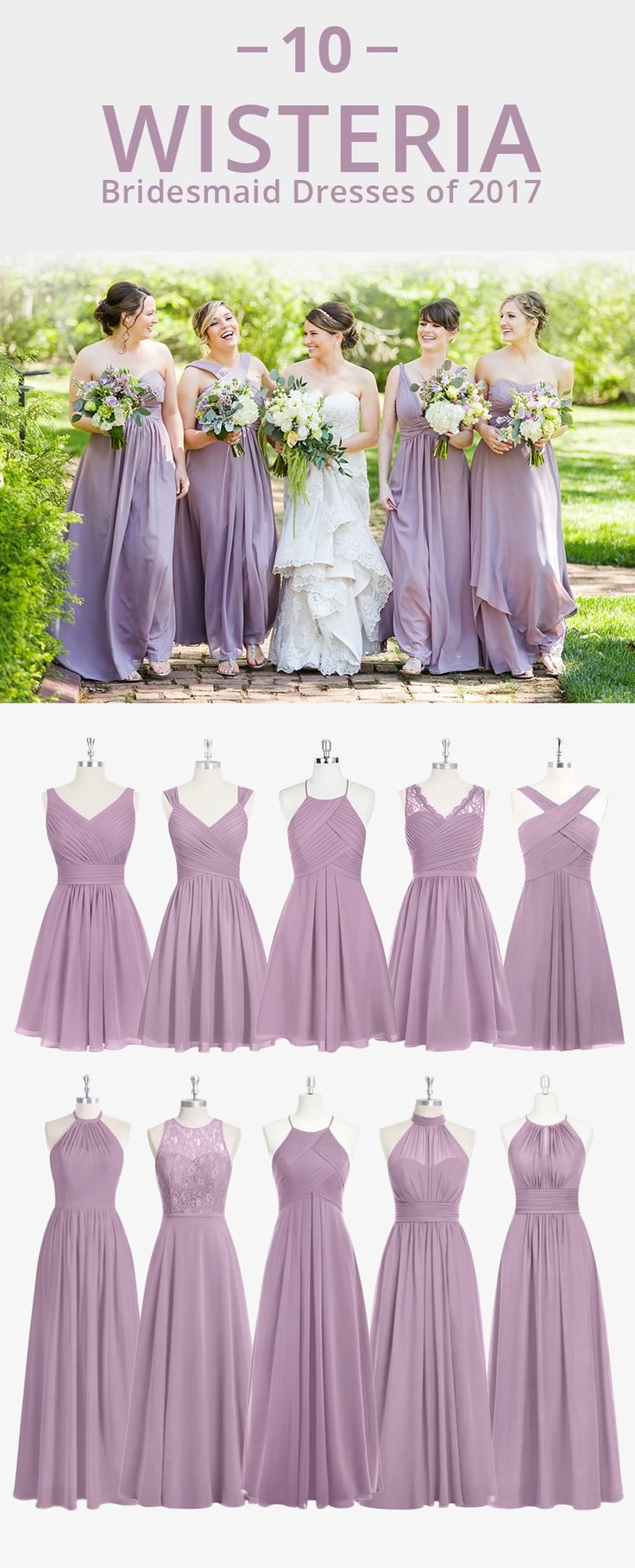 Dress your bridesmaid in this romantic soft purple! Available in sizes 0-30 and free custom sizing! Every woman deserves their dream dress, that fits right while still being budget friendly! Photo by Claire Diana Photography.