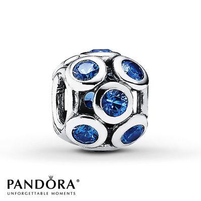 Pandora Charm Blue Crystal Sterling Silver