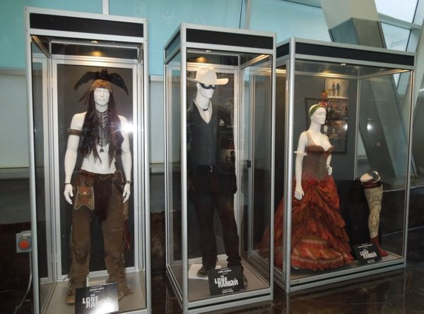 The Lone Ranger movie costume exhibit ArcLight Hollywood