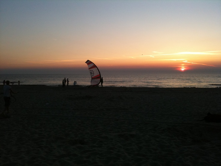 My kite during the sunset, a fast kiting session before its dark