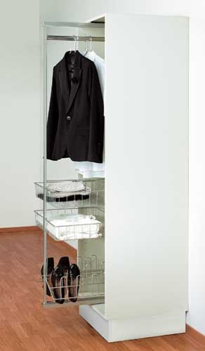 Pull out wardrobe unit