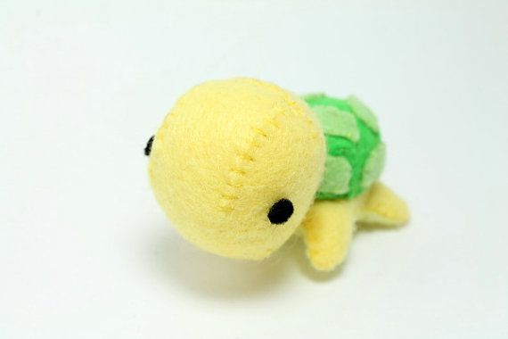 Patterns Felt Turtle Plush by typingwithtea on Etsy, $4.50