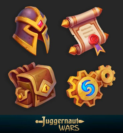 JW gui icons, Alexey Kutyrev on ArtStation at…