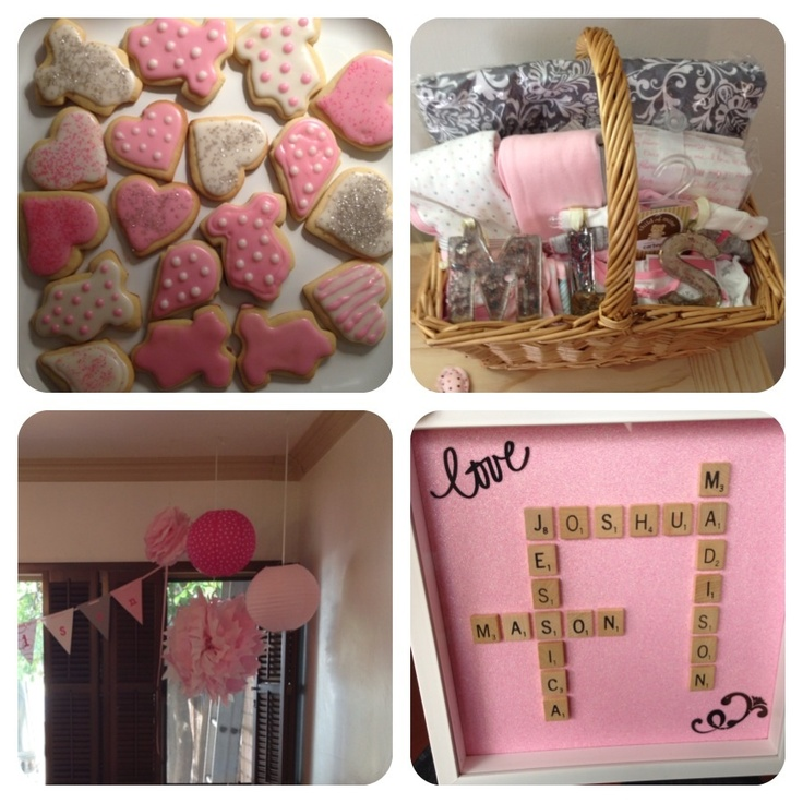 pink and gray baby shower baby baby showers pinterest