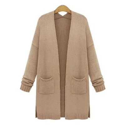 Apricot Women Cardigans Large Size Sweater Coat Knitted Oversized Sweaters Plus Size XL XXL 3XL 4XL 5XL Clothing