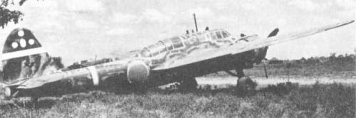 Ki-48 aircraft at rest, date unknown; note camouflage paint scheme