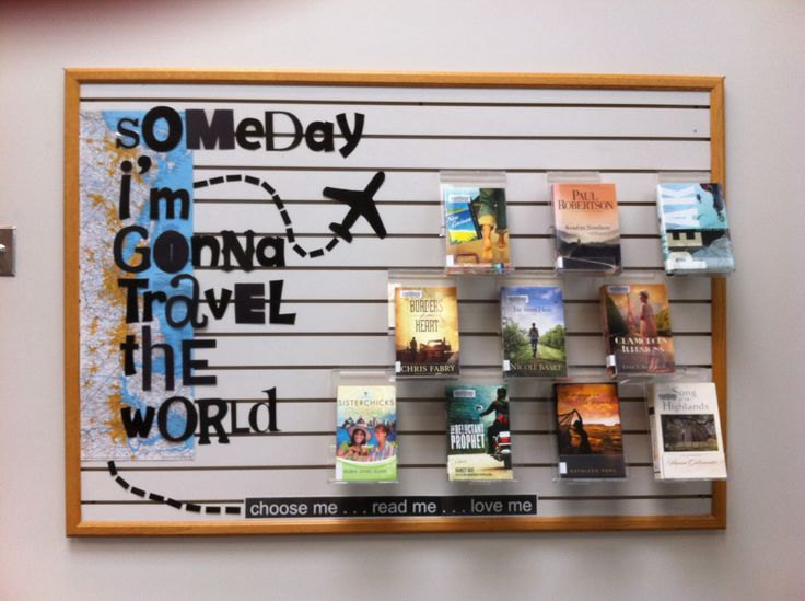 Travel theme fiction Display : someday I'm gonna travel the world (@ MEI Secondary Library)