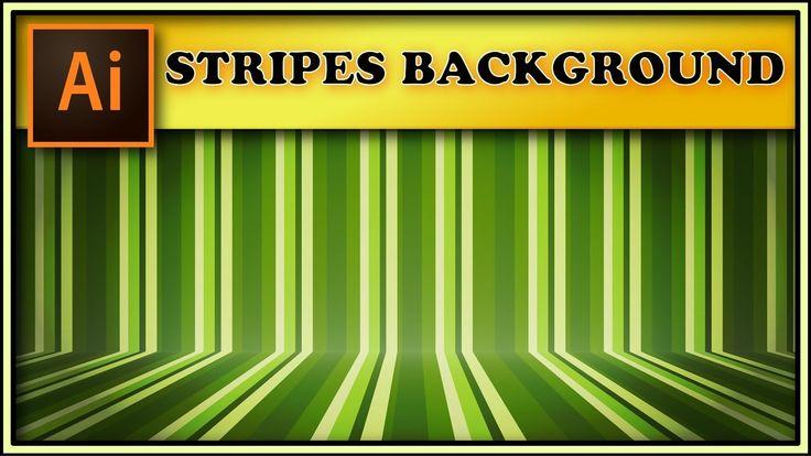 Stripes room background texture - Adobe Illustrator tutorial