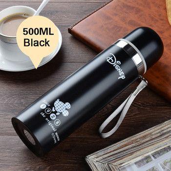 HOT Thermos Water Bottle 500ml Garrafa Stainless Steel Termica Inox Travel Cup Copo Termico Mug Caneca Termica Caixa Thermosfles