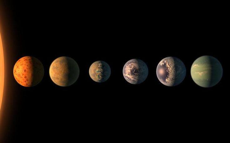 Vue d'artiste des sept exoplanètes TRAPPISTLa découverte d'un système de sept planètes rocheuses en orbite autour d'une étoile naine pourrait aider à comprendre comment ces astres se forment. Mais surtout, elle suscite un nouvel espoir : celui de déceler...