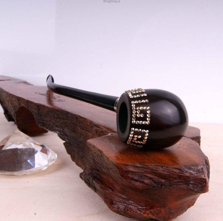 Luxury tobacco pipe with Swarovski elements