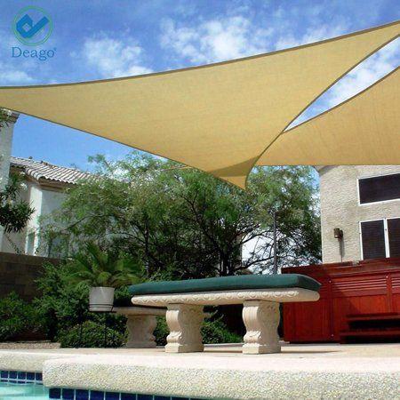 ea55a3ca524d Buy Deago 16.5' x 16.5' x 16.5' Waterproof Sun Shade Sail UV Block Canopy  Cover for Outdoor Patio Garden Beach Sand Triangle at Walmart.com