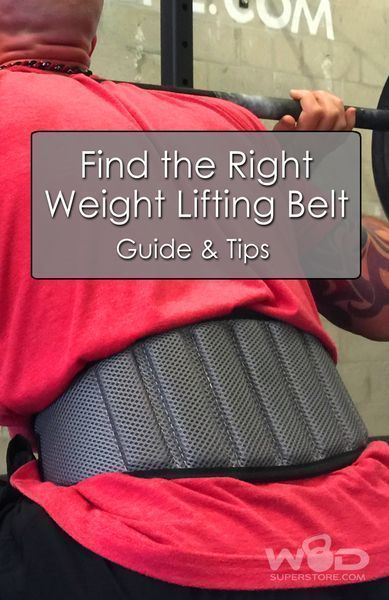 Find the right Weight Lifting Belt - Guide and Tips by WODSuperStore.com