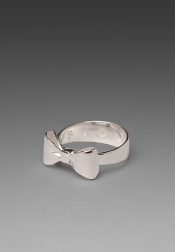 Stolen Girlfriends Club Bow Ring in Silver