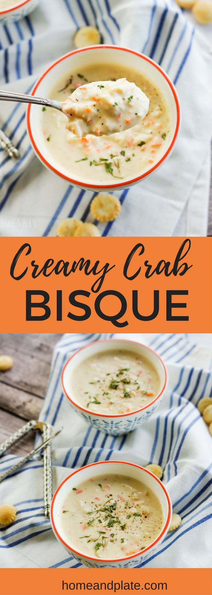 Creamy Crab Bisque | www.homeandplate.com | Rich a…