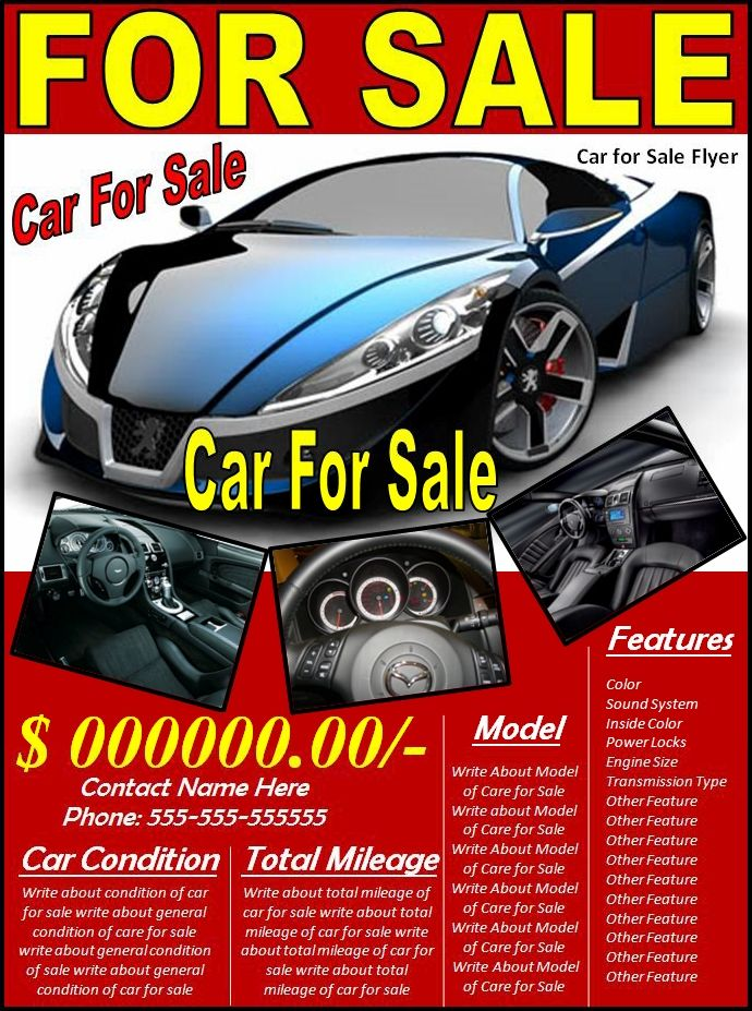 10+ Car Sales Flyer Templates Free Printable Word  PDF Formats