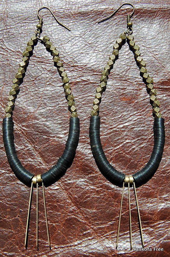 Sale Amoke Tribal  Earrings-African Jewelry-Tribal by SANKOFAFREE