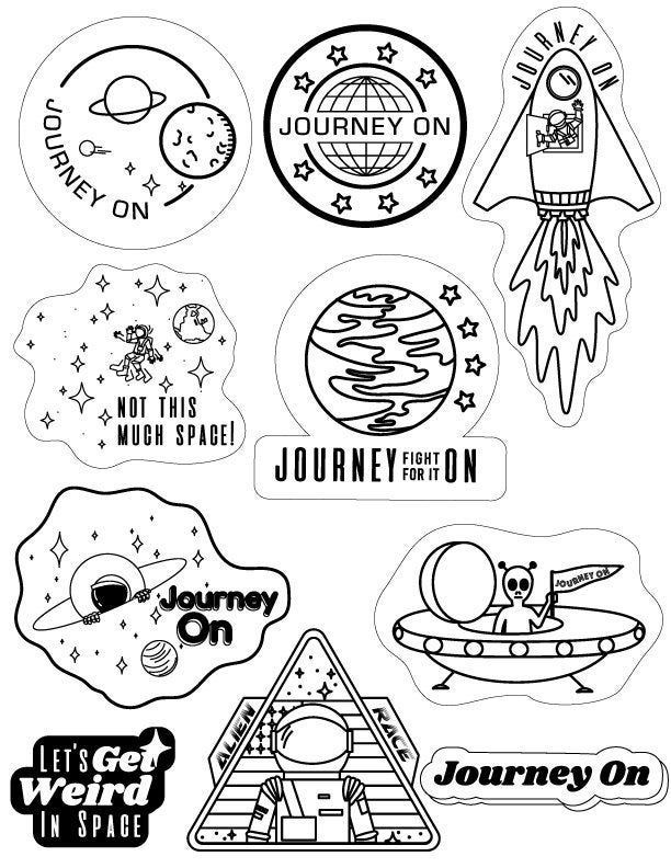Space Stickers In Black White Black And White Stickers Tumblr