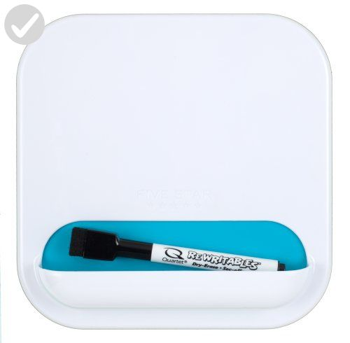 Five Star Locker Organizer, Combo Dry Erase Board and Storage Pocket, 7 x 7 Inches, White with Teal Pocket (72612) - Refine your workspace (*Amazon Partner-Link)