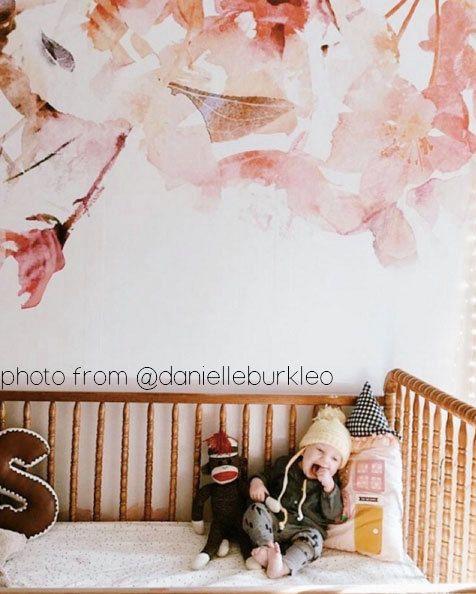 Etsy の 春の花 大きい壁の壁画 水彩壁画 壁紙 125 125 by anewalldecor
