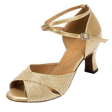Εξατομικευμένο-Λάτιν / Σάλσα-Παπούτσια Χορού- μεΠροσαρμοσμένο τακούνι- απόΔερματίνη / Λαμπυρίζον Γκλίτερ- γιαΓυναικείο 5143184 2017 – €35.27