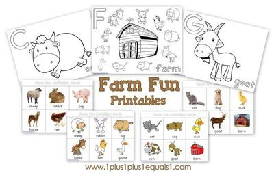 Farm Fun Printables from 1plus1plus1equals1 on TeachersNotebook.com -  (17 pages)