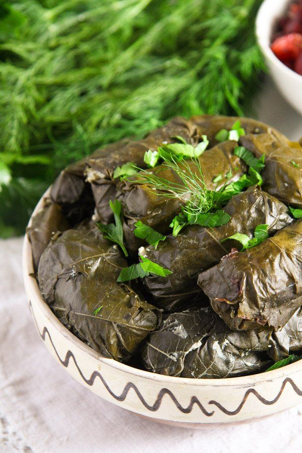 Stuffed Vine Leaves with Ricotta, Rice and Herb Filling