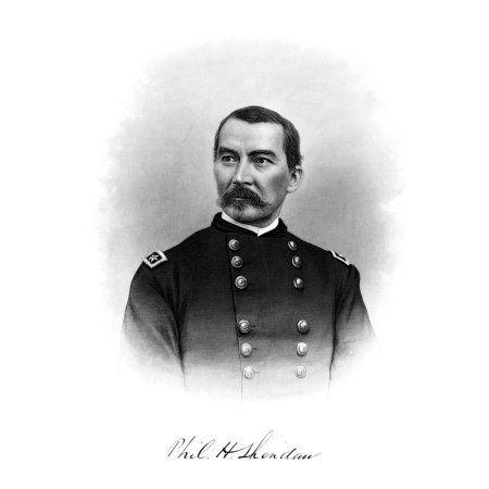 Vintage Civil War Print of General Philip Sheridan Canvas Art - John ParrotStocktrek Images (25 x 32)