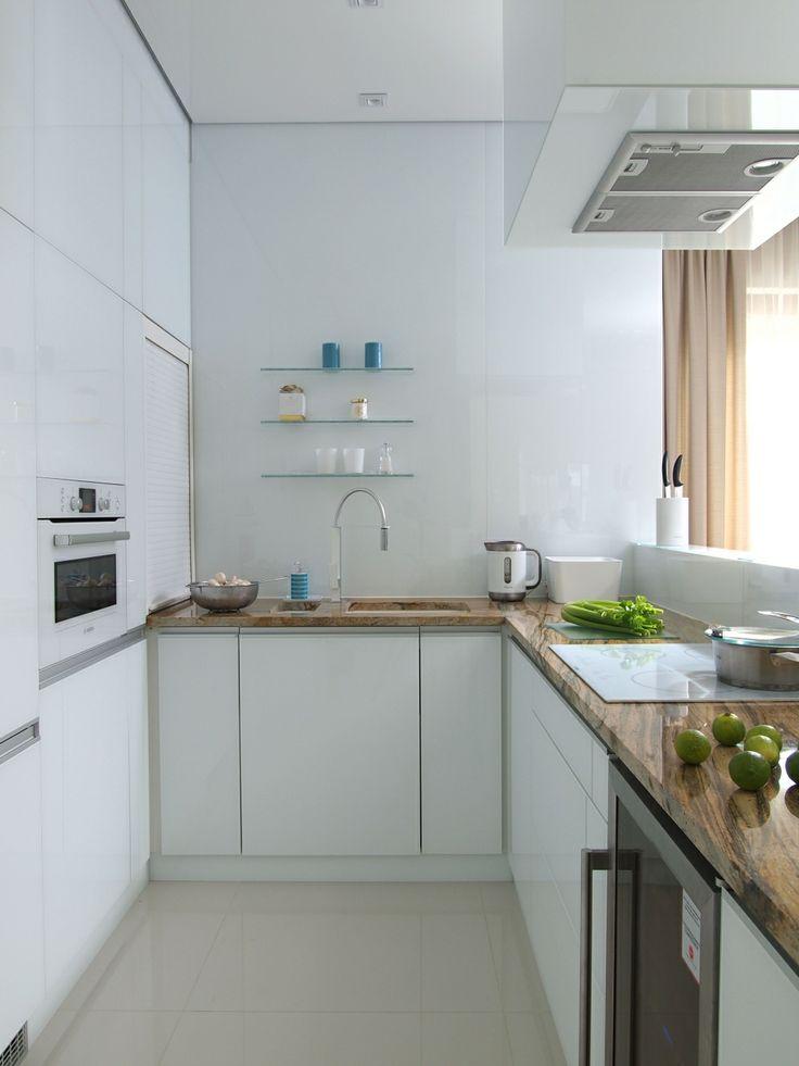 biała kuchnia z granitowym blatem