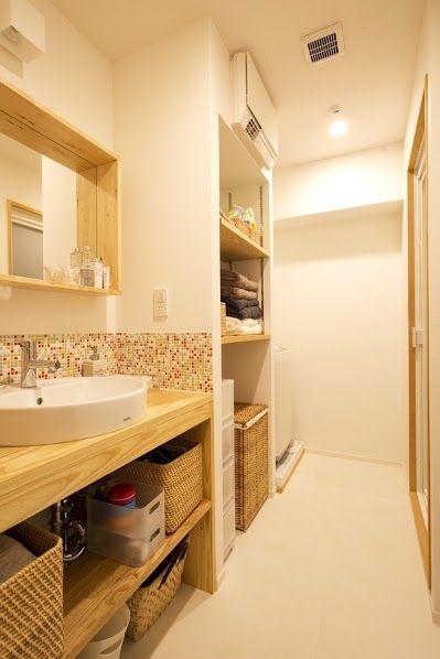 脱衣所(J邸・和モダンスタイル 光と風が通る心地よい住まい)- トイレ/バス事例