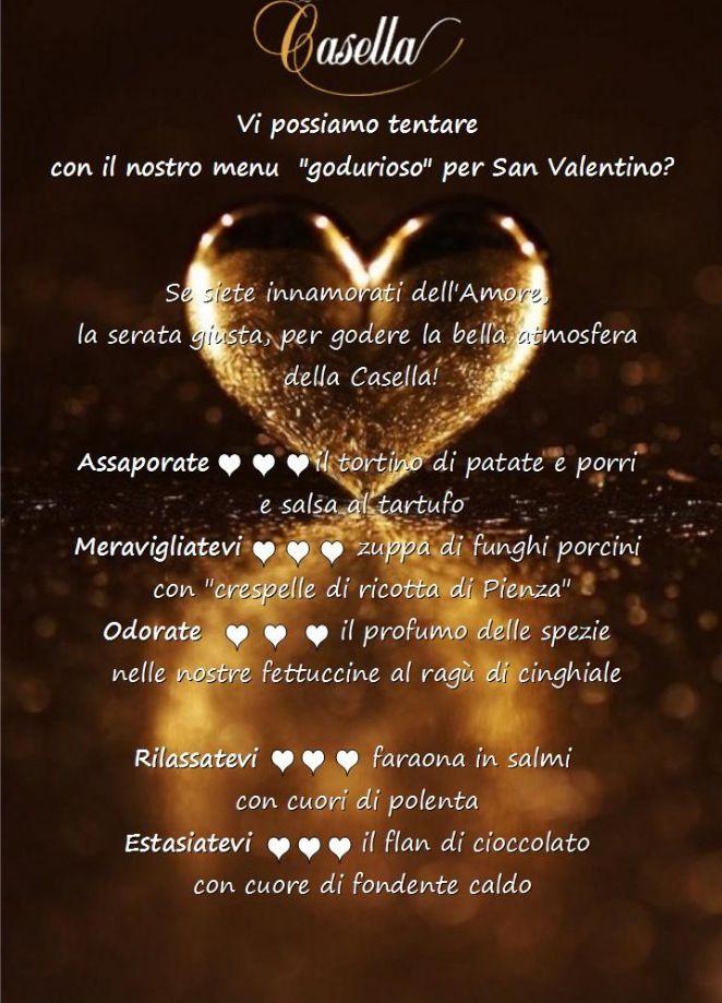 Menu for San Valentino al La Casella