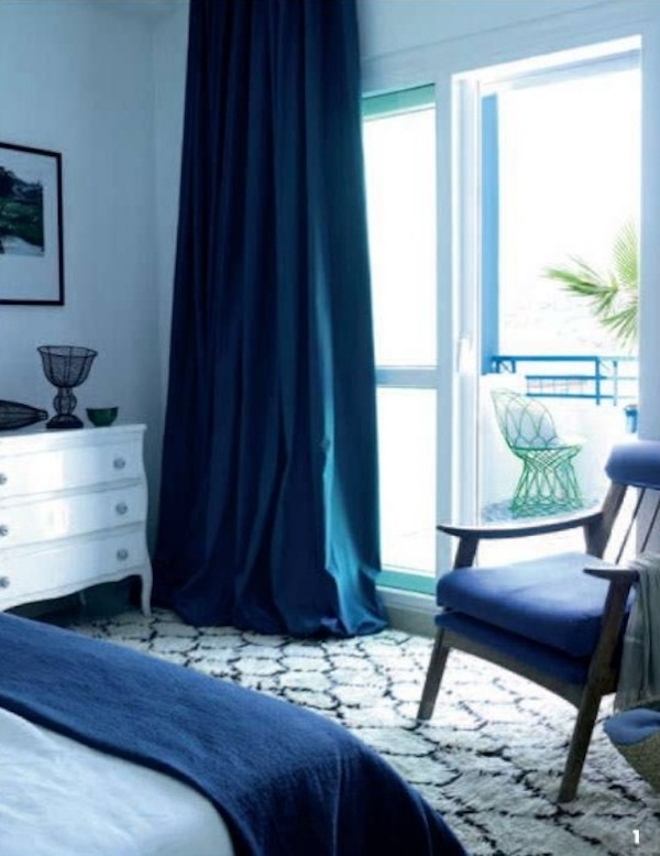decorating ideas  Elle Decoration Russia  blue bedrooms  blue curtains   black   white. 14 best Master bedroom ideas images on Pinterest